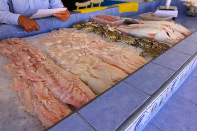 Seafood market in San Felipe, Mexico.