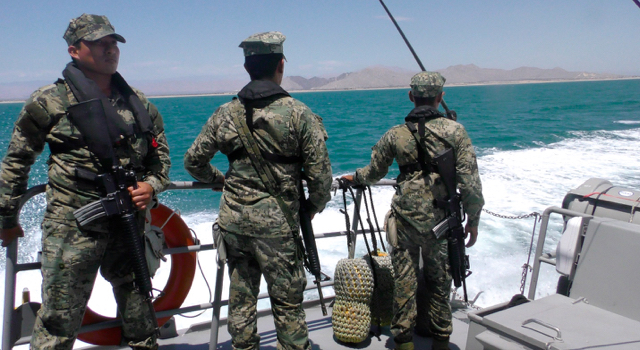 Mexican Navy on a patrol.