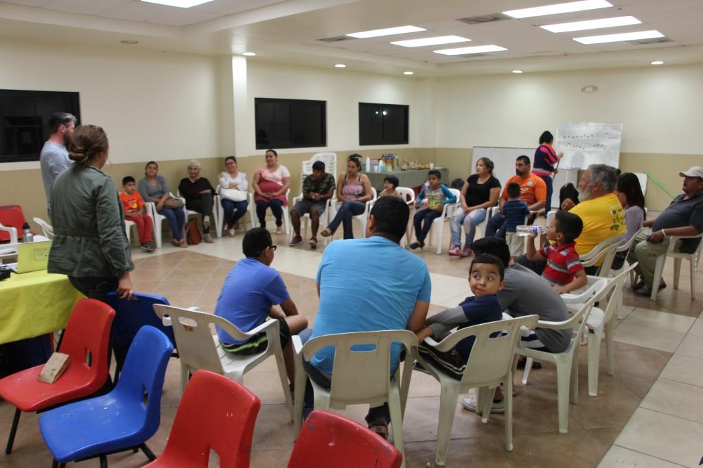 Post-screening community discussion at Casa de la Cultura in San Felipe.