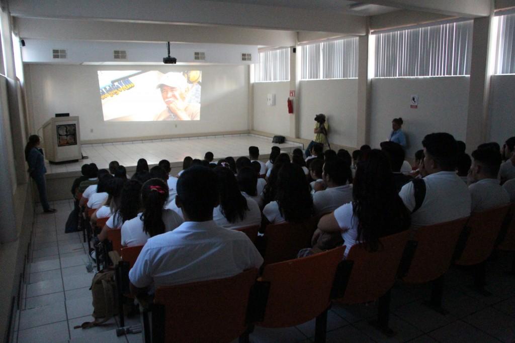 Screening our film at a local high school in San Felipe.