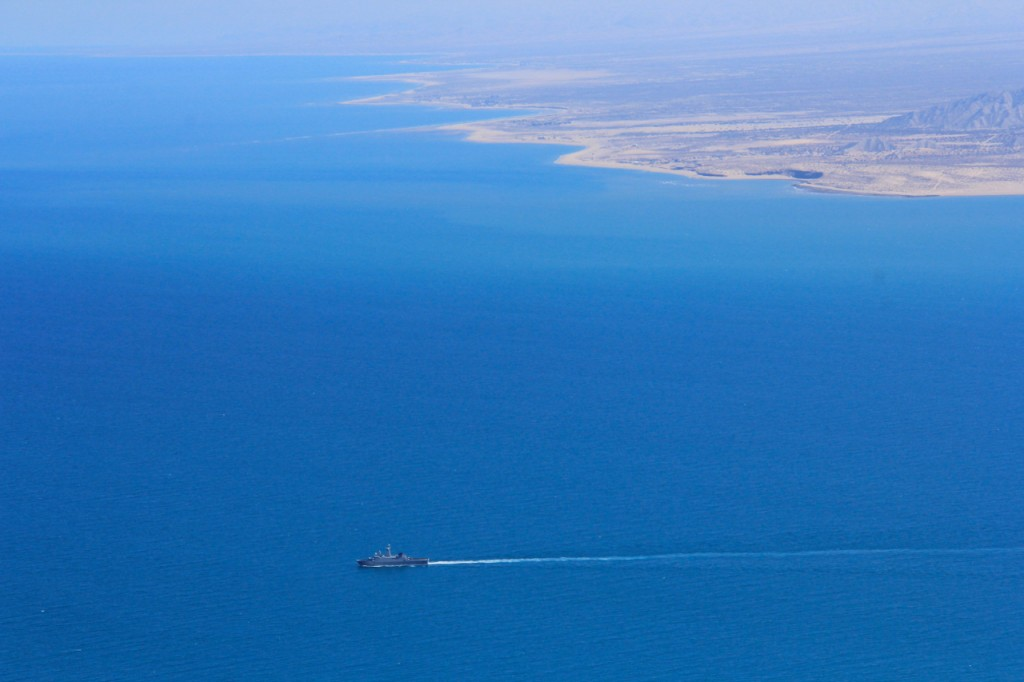 An aerial view of the Northern Gulf of California. Photo by Sean Bogle.