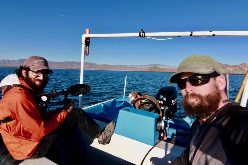 Wild Lens filmmakers Sean Bogle and Matthew Podolsky in the Upper Gulf of California.